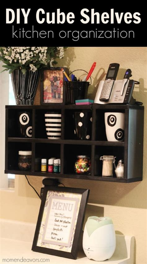 kitchen organization diy cube shelves