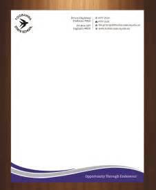 Business Letterhead Footer Modern Feminine Letterhead Design For Toobanna State