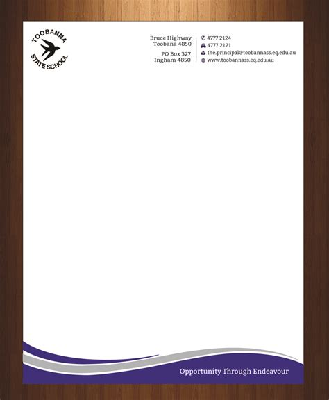 y frooter modern feminine letterhead design for toobanna state