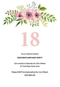 18th birthday invitations templates free word templates for wedding invitations bestsellerbookdb
