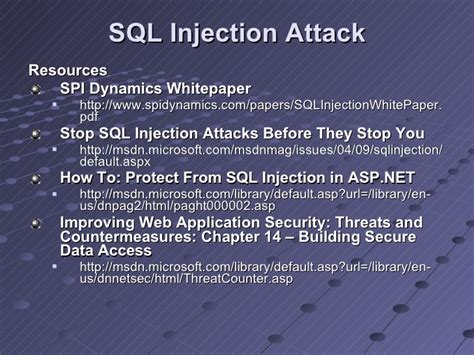 research papers on sql injection attacks application security part 1 threat defense in client