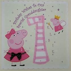 personalised 1st birthday card peppa pig granddaughter neice 2nd 3rd ebay