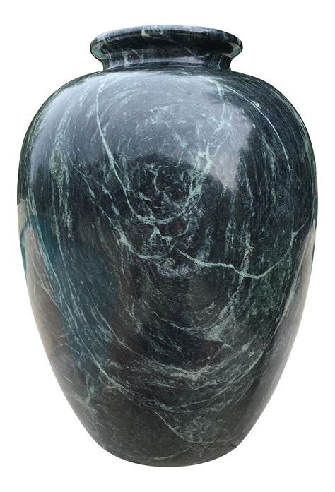Black Marbles For Vases by Large Green Black Marble Vase Chairish