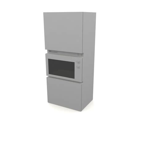 Microwave Oven Shelf microwave oven shelf 3d model cgtrader