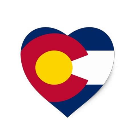 colorado state flag heart sticker zazzle