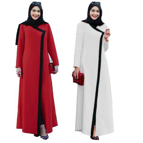 Dress Wanita Dress Muslim Wanita New Makuta 2 Black Navy sleeve muslim arabic dress turkish gown dubai moroccan kaftan islamic abaya