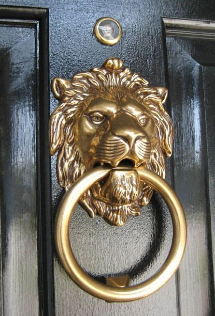 Door Knocker Brass Lion Get A Grip Pinterest Front Door Knockers Brass