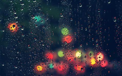 colorful rain wallpaper colorful rain water drops wet lights blurred depth of