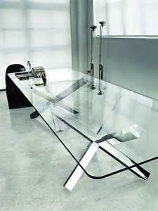 Large Glass Dining Tables Aikido Sovet Italia Large Glass Table Glassdomain