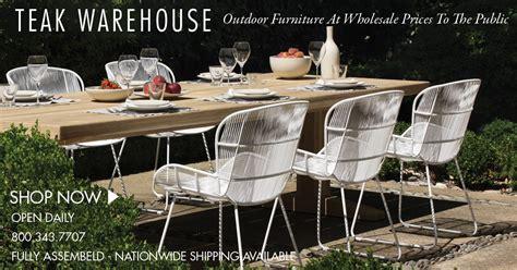 warehouse outdoor furniture teak warehouse teak wicker and outdoor furniture