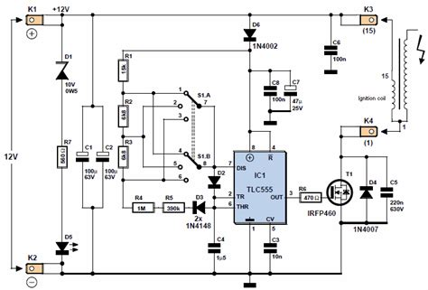 electric fencing circuit diagram electric fence energizer circuit diagram 12v best image