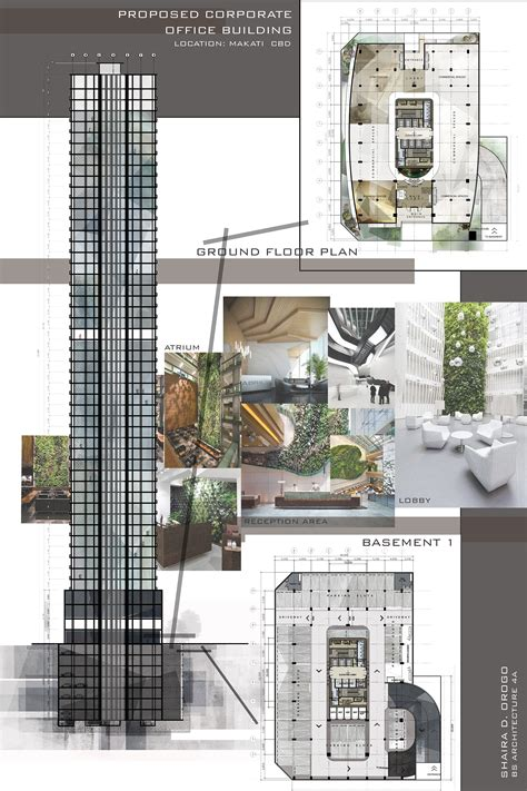 architectural layouts design 8 proposed corporate office building high rise