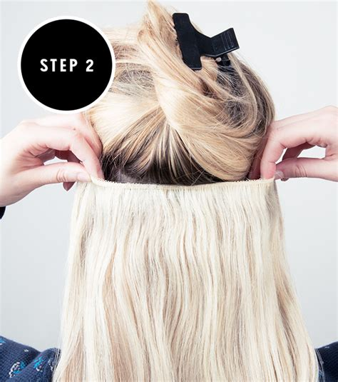 how to put hair clip extensions in how to apply clip in hair extensions hair extensions