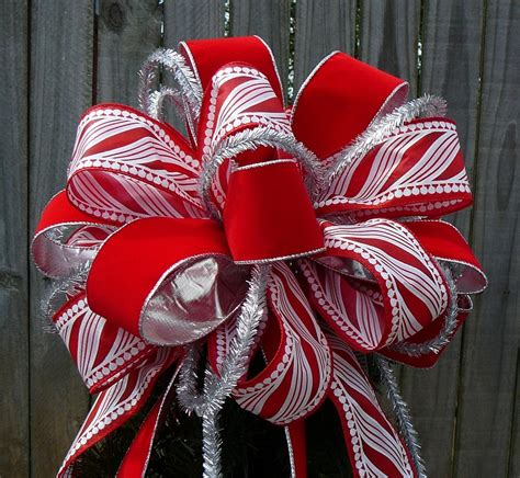 tree top bow for christmas large fun tree topper by