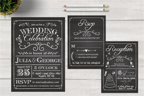 chalkboard card templates wedding invitation card template 10 psd ai and vector