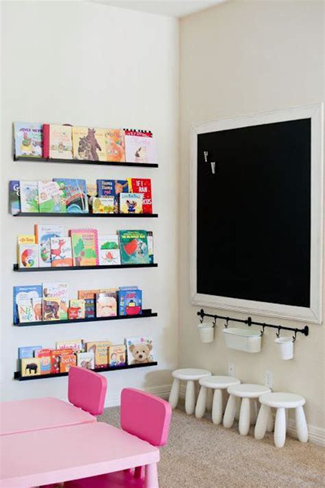 playroom bookshelves 30 education playroom with chalkboard ideas home