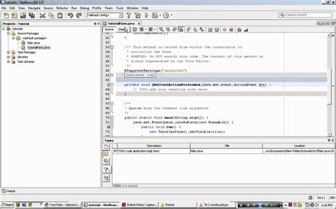 java tutorial java code for search button netbeans mysql netbeans 6 9 exit command button youtube