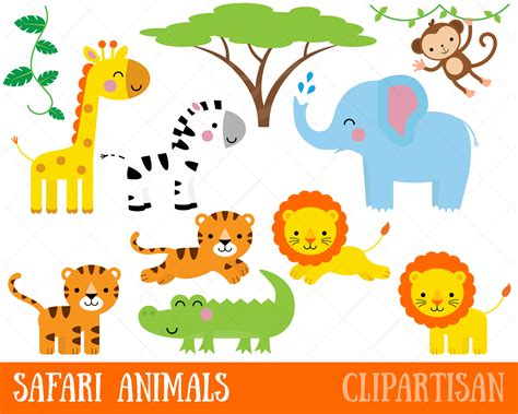 printable images of jungle animals safari animals clipart printable jungle animal clip art