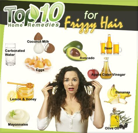 Home Remedies for Frizzy Hair   Top 10 Home Remedies