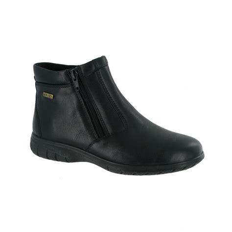 waterproof ankle boots cotswold deerhurst black leather waterproof ankle