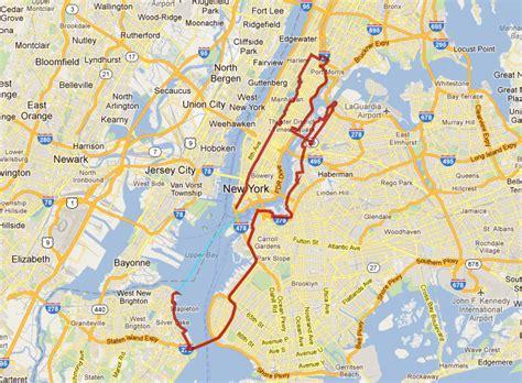 tour map five boro bike tour map nyc bike maps