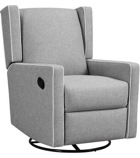 gray recliner glider monbebe everston swivel glider recliner gray