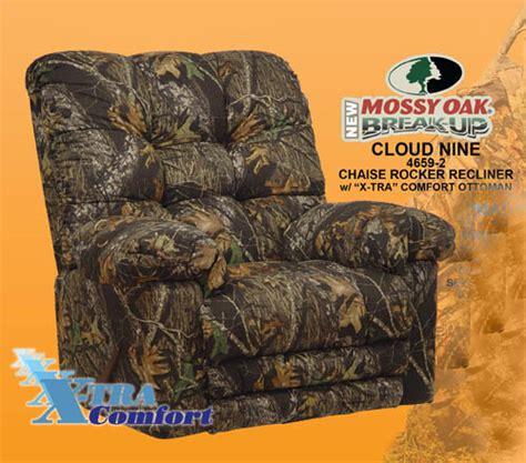 catnapper magnum recliner camo cloud nine mossy oak camouflage chaise rocker recliner by