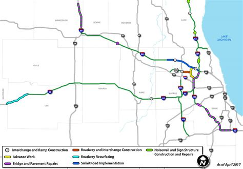 illinois tollway map illinois tollway