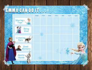 Toddler Behavior Chart Template by Frozen Toddler Reward Chart Behaviour Chart Chore Chart