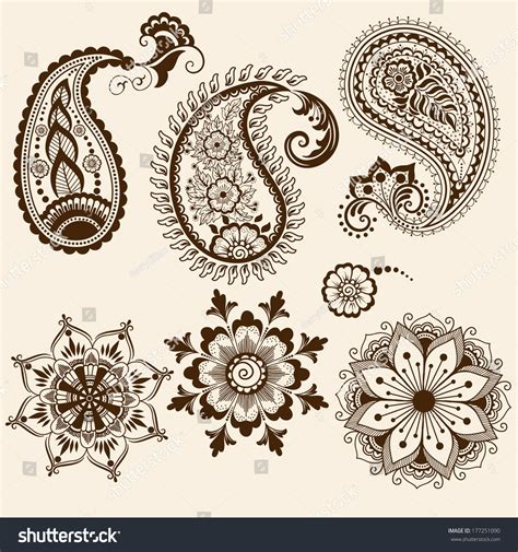 feathers mehndi style vector designs set vector henna mehndi designs vector makedes
