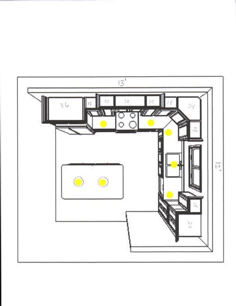 kitchen recessed lighting layout