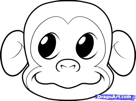 monkey mask template coloring pages
