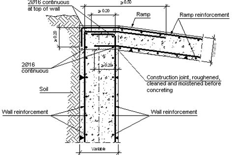 Slab Foundation Floor Plans Construction Details Cype Ccm001 Top Of Wall Interface