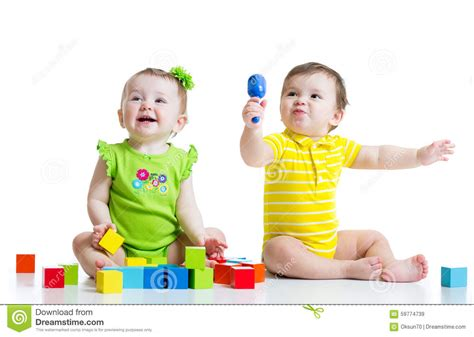 Two Adorable Babies Playing With Toys Toddlers Stock Image Image Of Child Colourful 59774739 Pictures Of Small Children
