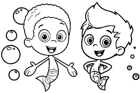 bubble guppies coloring pages nick jr printable bubble guppies az coloring pages