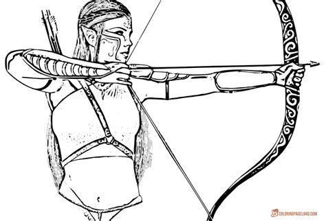 elf archer coloring pages elf archer coloring pages coloring pages