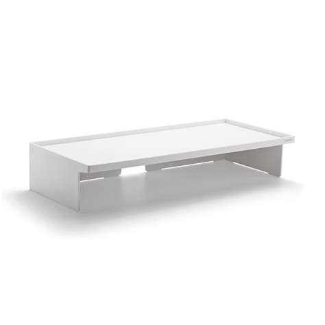 white monitor riser desk accessories organization poppin