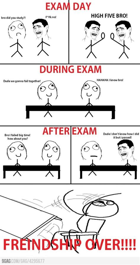 Memes About Exams - friendship is over now nursing school problems