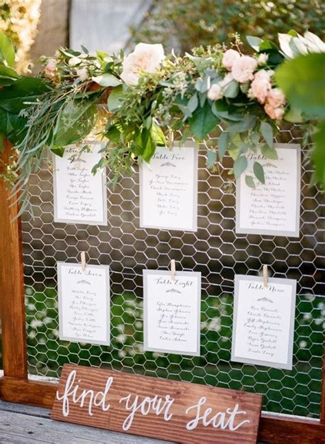 rustic seating charts ideas  pinterest