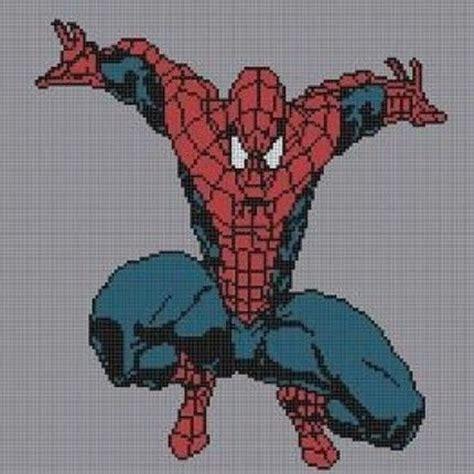 spiderman graph pattern spiderman full body crochet pattern afghan graph for cross