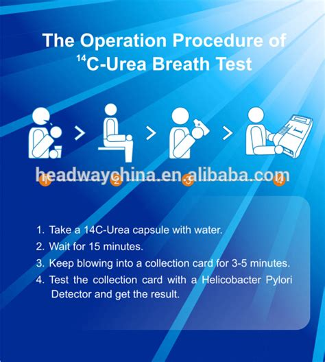 ubt test h pylori test kit for non invasive urea breath test