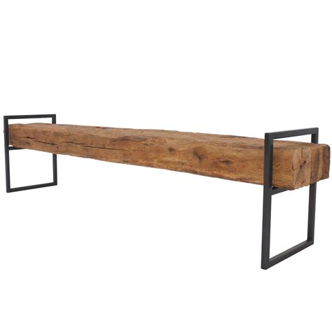 steel benches modern minimal beam bench reclaimed structural oak beams