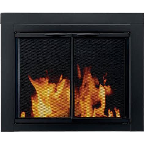 walmart fireplace doors pleasant hearth cabinet style fireplace glass door astor