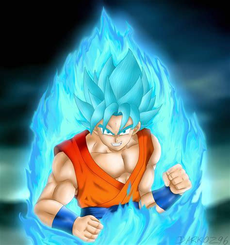 imagenes de goku god blue goku ssj god blue by darkoz96 on deviantart