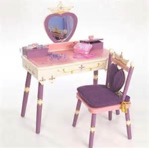 Childrens Wooden Vanity Set The Levels Of Discovery Princess Vanity Table And Chair Set