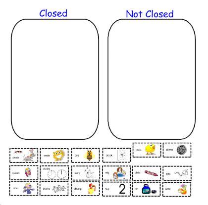 Closed Syllable Worksheets