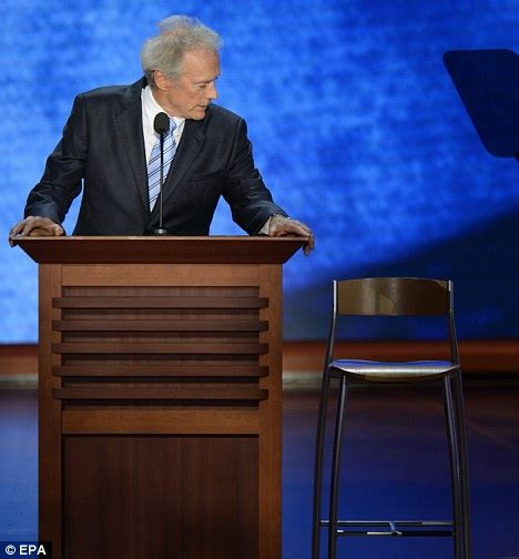 Clint Eastwood Talking To Chair by Clint Eastwood Talks To The Chair Cos The President Aint