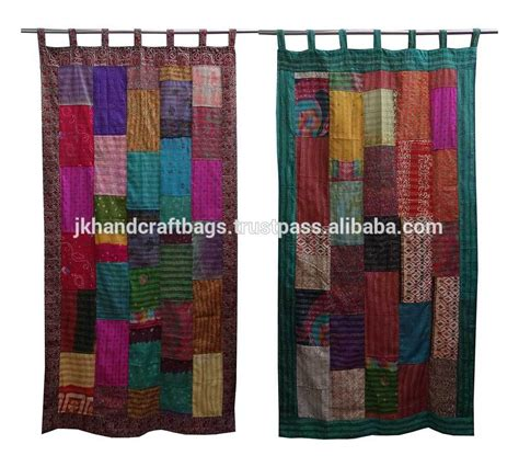 wholesale sari patchwork curtain sari patchwork curtain
