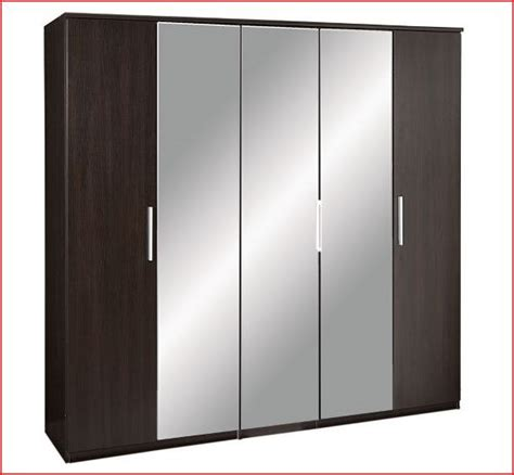 Prague Wardrobe by Prague Large 5 Door Wardrobe Wenge Effect Brown Black Ebay