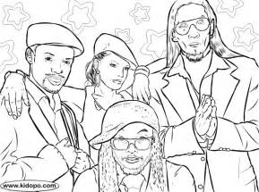 Black Eyed Peas Coloring Page sketch template